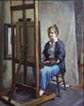 Jean at the easel
